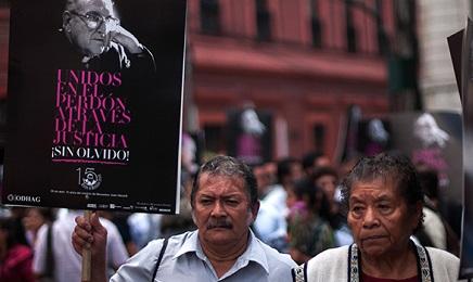 Marcha silenciosa en Ciudad de Guatemala