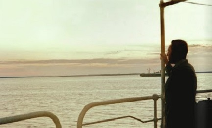 """Una poco conocida foto de Romero a bordo del barco """"Marqués de Comillas"""" frente a las costas de Yucatán en México"""