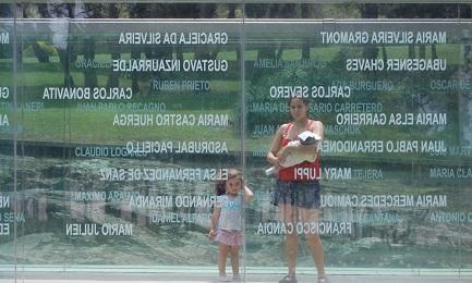 El Monumento a los desparecidos, en la ciudad de Montevideo