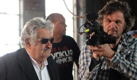 José Mujica filmado por Emir Kusturica. Foto AFP