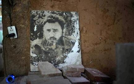 Altar doméstico en memoria del líder desaparecido