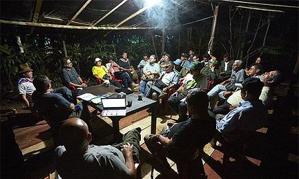 Reunión de las FARC. En el centro Timochenko, el último comandante