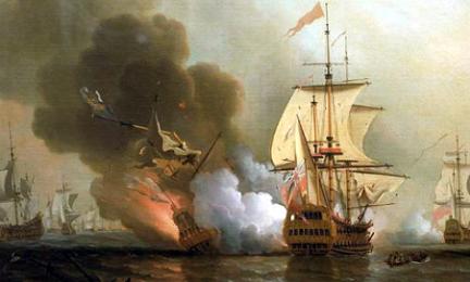 Lo mandó a pique la Expedition del capitán inglés Charles Wagner el 8 de junio de 1708