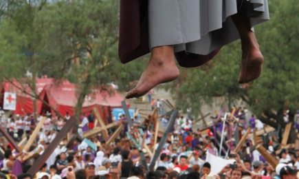 ¡ESTA SÍ QUE ES UNA PASIÓN! Una vez más el Via Crucis de Iztapalapa, en México, promete estar a la altura de su fama de ser el más grande del mundo