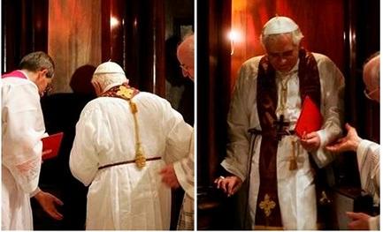 Cuaresma de 2007: Benedicto XVI confiesa en la basílica de San Pedro