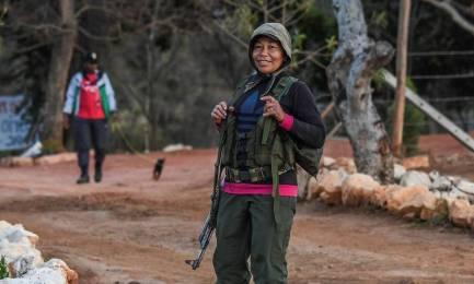 Guerrilleera de las FARC embarazada en un campamento para desmobilizados (Foto Luís Acosta AFP/Getty Images)