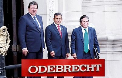 Três presidentes e muitos suspeitos: Alan Garcia, Ollanta Humala (no centro), Alejandro Toledo