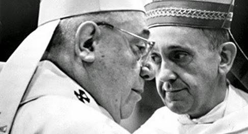 El cardenal Quarracino con Bergoglio
