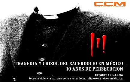Afiche del Observatorio de la arquidiócesis de Ciudad de México sobre la violencia contra los sacerdotes