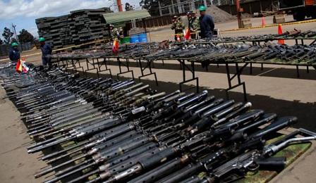 ARMAS AL MATADERO. Comenzó la destrucción de las municiones entregadas por las Farc de Colombia a las Naciones Unidas. Seguirán las armas