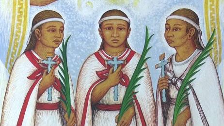 """NIÑOS Y MÁRTIRES. Y A PARTIR DE HOY, SANTOS. El Papa Francisco canoniza en San Pedro a los tres """"Niños Mártires de Tlaxcala"""", asesinados en el México de la conquista"""