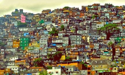Vista panorámica de la favela Jacarezinho de Rio de Janeiro