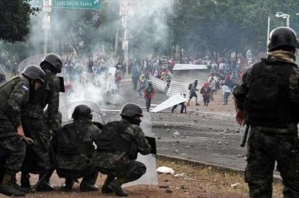 Enfrentamientos en Honduras