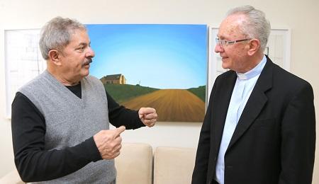 Lula com o cardeal emérito Cláudio Hummes