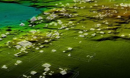 Un relevamiento con láser muestra la amplia red de ciudades, fortificaciones, almacenes y carreteras