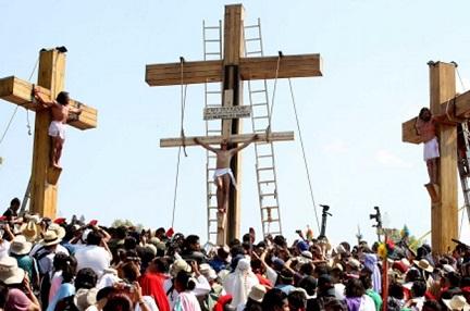 La crucifixión de Iztapalapa, en Ciudad de México