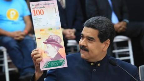 Maduro muestra la moneda venezolana, el bolívar, con tres ceros menos (EFE -PRENSA MIRAFLORES)