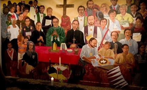Murales con Romero y Gerardi