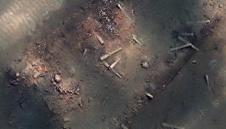 El reposo del galeón (Foto: Propiedad del Instituto Colombiano de Antropología e Historia (ICANH)