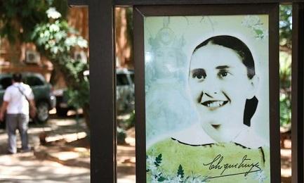 """Imagen de María Felicia del Jesús Sacramentado en el """"Jardín de Chiquitunga"""" de Asunción"""