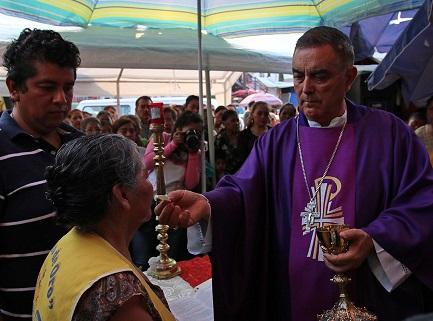 El obispo Salvador Rangel Mendoza (Foto José Luis de la Cruz)