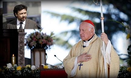 El cardenal Ricardo Ezzati. En el recuadro el fiscal Arías que pidió su procesamiento