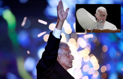 """EL PAPA NO IRÁ A MÉXICO. NI SIQUIERA POR SKYPE. Desmintieron la noticia de su participación en los """"Foros de consulta"""" para nuevas políticas de paz propuestos por López Obrador"""