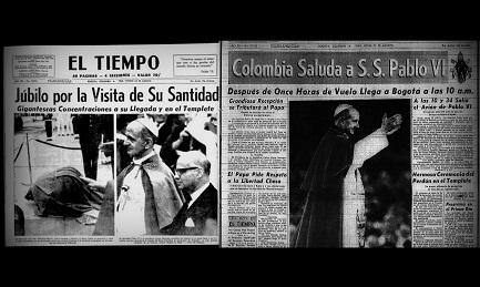 Primera página de los dos principales diarios de Colombia