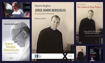 La cubierta de las cinco ediciones, con la española en el centro
