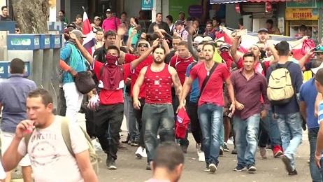 Una protesta en Costa Rica contra inmigrantes de Nicaragua