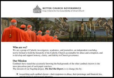 """FICHAJE DE CARDENALES. Un cierto """"Grupo para un mejor gobierno de la Iglesia"""" de origen estadounidense financiará el proyecto""""Red Hat Report"""" para reunir información sobre todos los purpurados"""